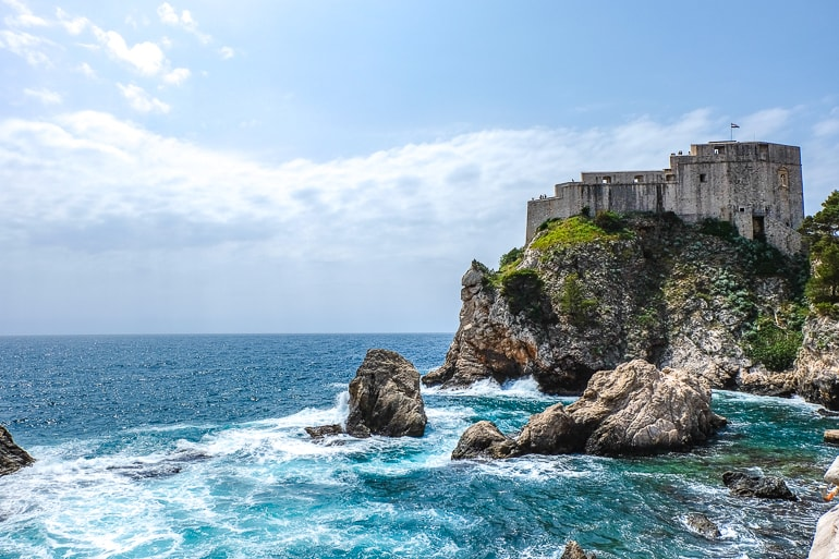 stone sea fort with blue water where to stay in dubrovnik