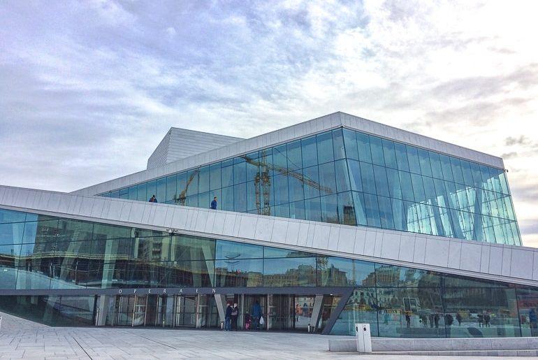 Opernhaus aus Glas Oslo Norwegen
