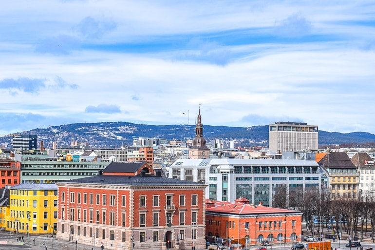 Bunt Gebäude Innenstadt von Oslo Unterkunft