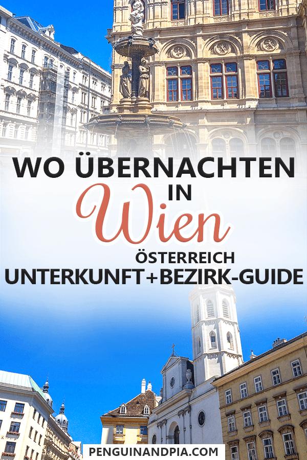 Wo übernachten in Wien Österreich Pin
