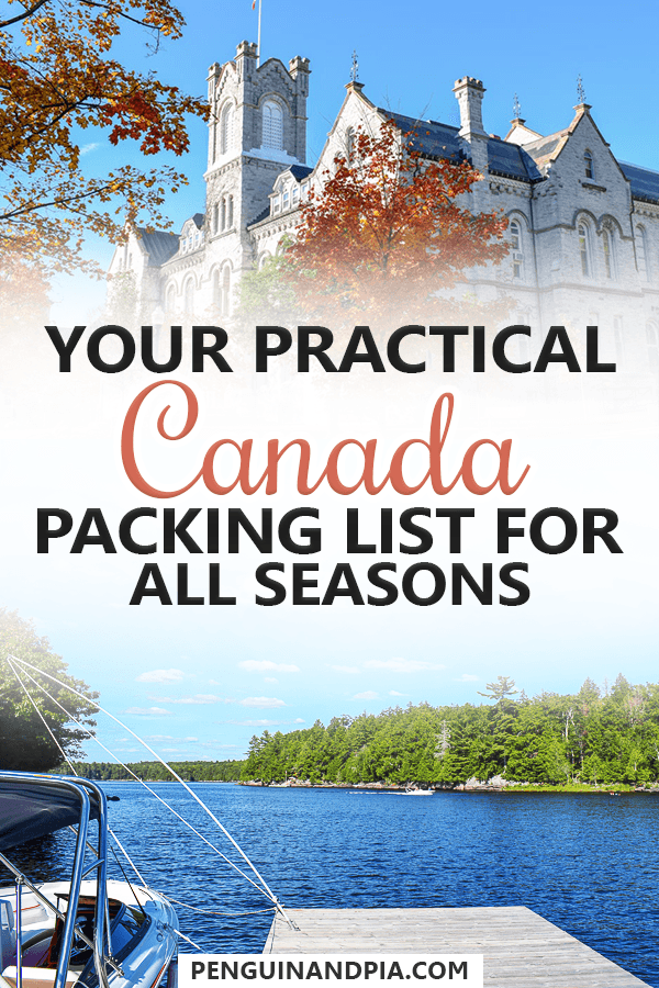 Your Practical Canada Packing List