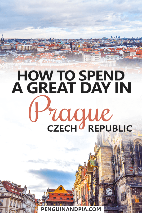 One day in Prague, Czech Republic
