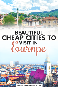 Cheap cities to visit in Europe