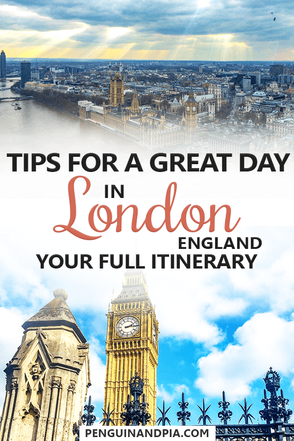 Tips for one day in London England
