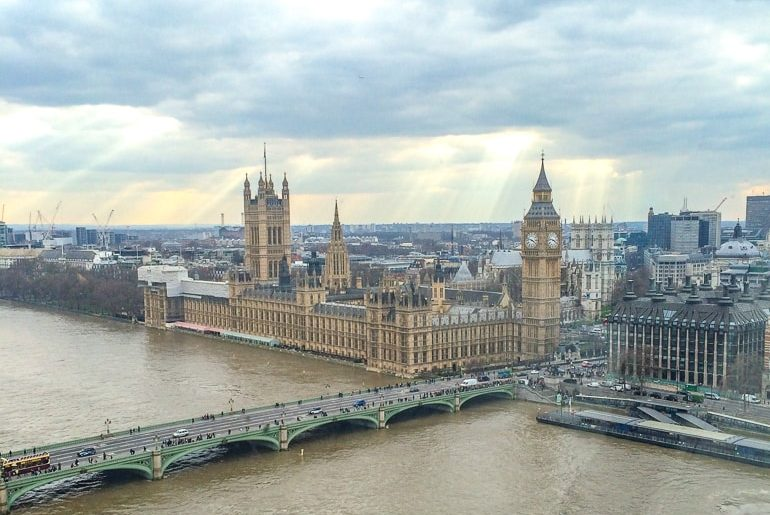 westminster and big ben clock tower in london with top attractions