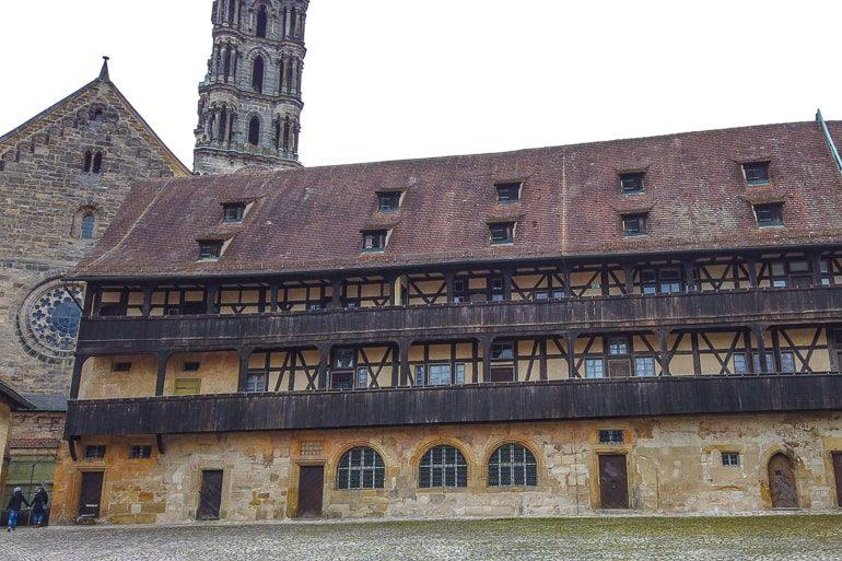 Alter Innenhof mit Kopfsteinpflaster Bamberg Sehenswürdigkeiten