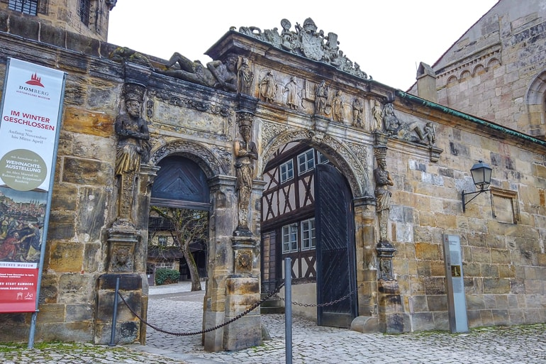 old stone gate entrance in germany city bamberg things to do