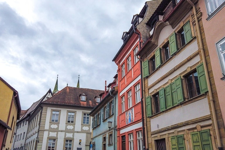 colourful buildings in german town bamberg