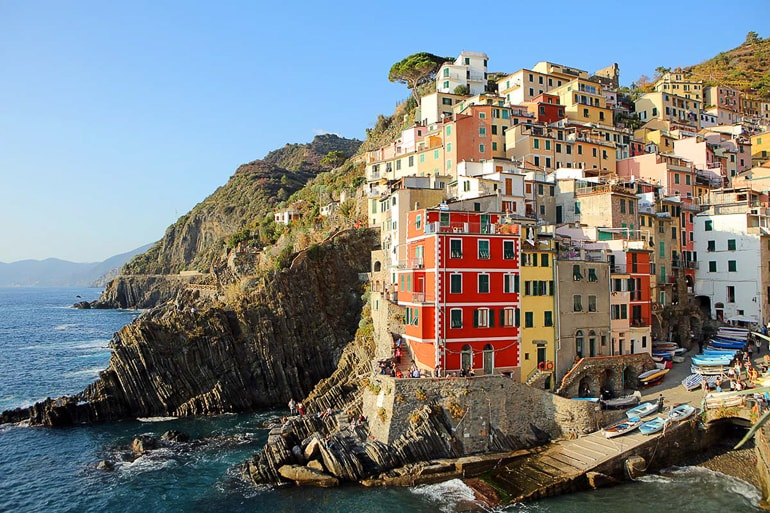colourful houses on coast italy attractions cinque terre