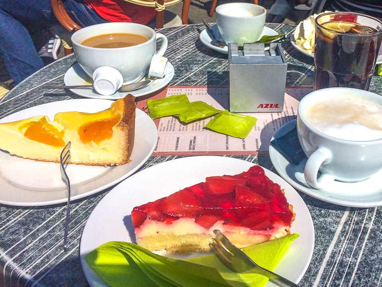 coffee and cake slices on table bremen