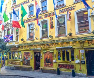 bar in dublin with flags on outside where to stay in dublin