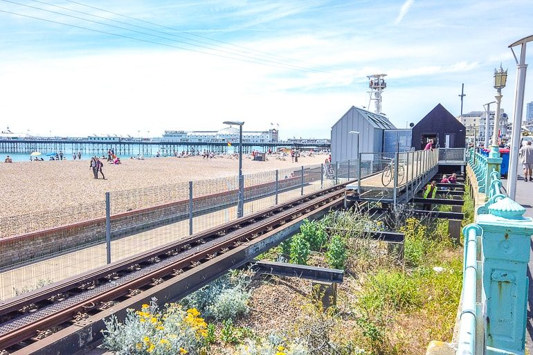 railway track along beach front things to do in brighton