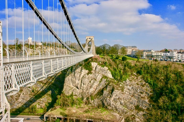 suspension bridge crossing large rock gap things to do in bristol