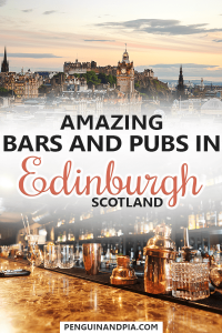 Bars and Pubs in Edinburgh