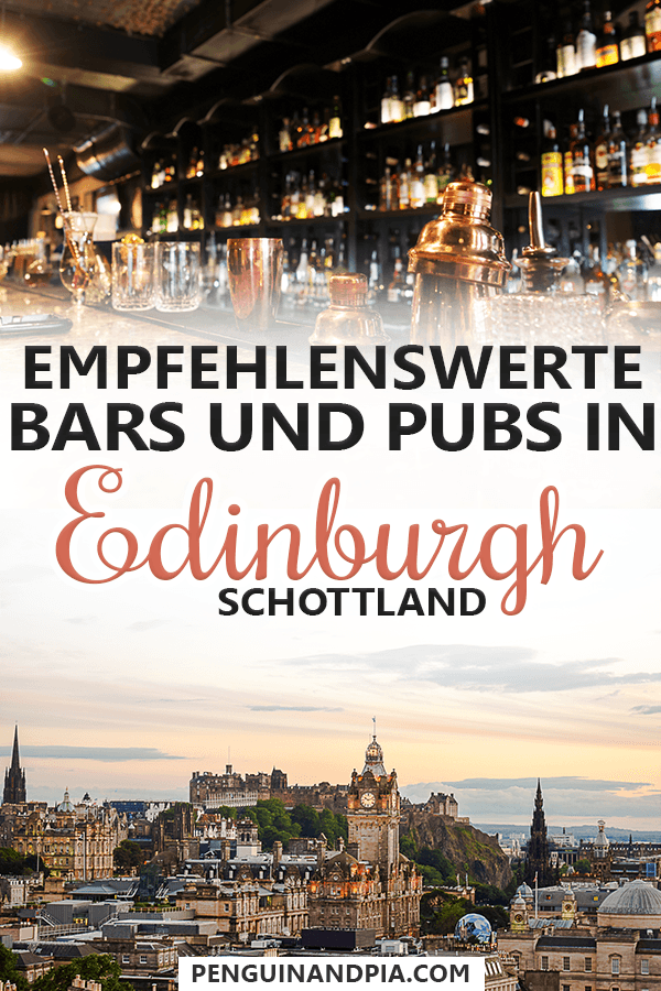 Bars und Pubs in Edinburgh Schottland