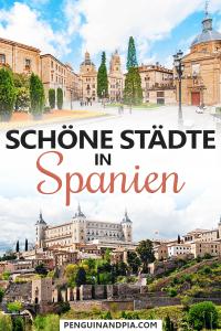 Schöne Städte in Spanien