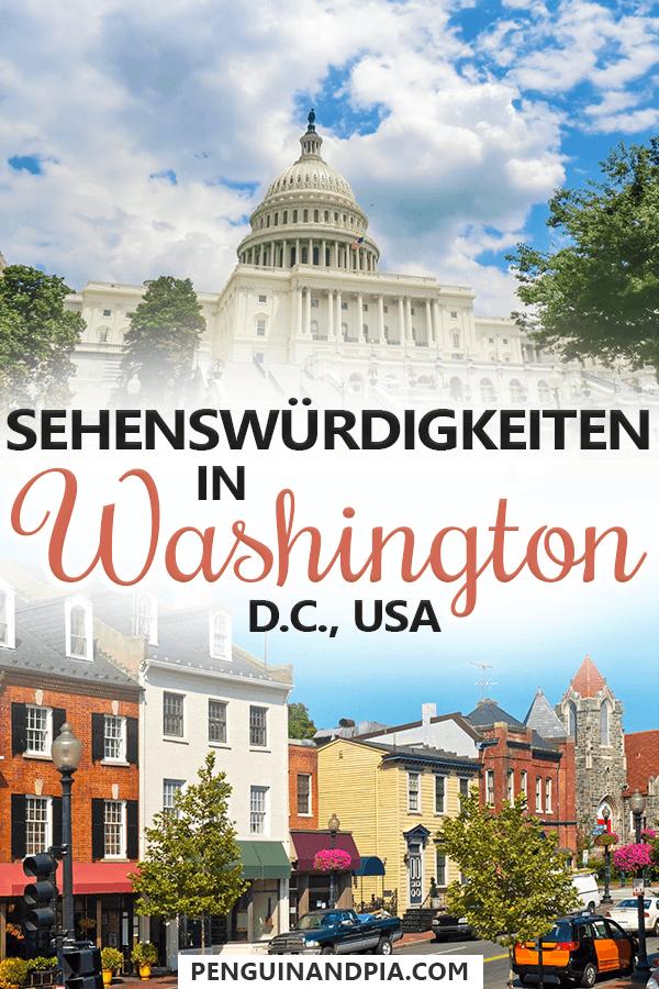 Sehenswürdigkeiten in Washington DC