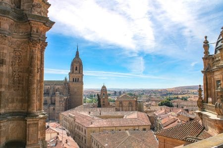 orange clay rooftops in salamanca spain itinerary
