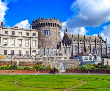 stone castle turret and green grass in front things to do in dublin