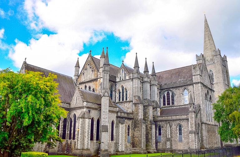 old stone cathedral with spires things to do in dublin st patricks cathedral