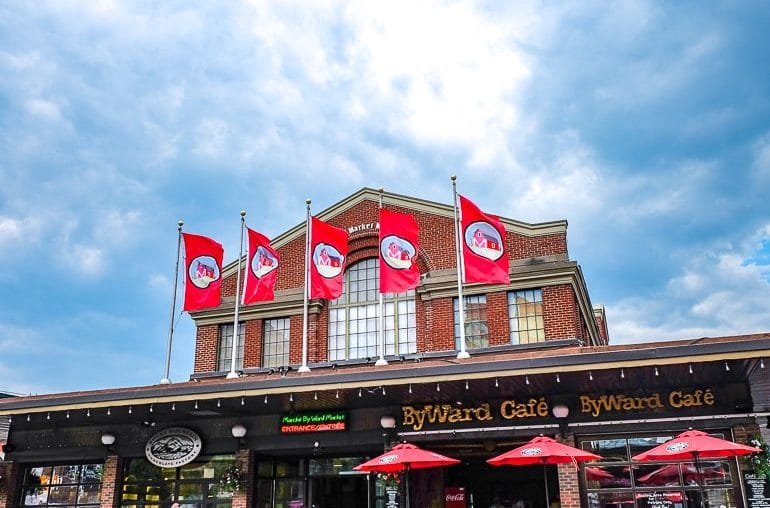 red flags on entrance to byward market things to do in ottawa canada