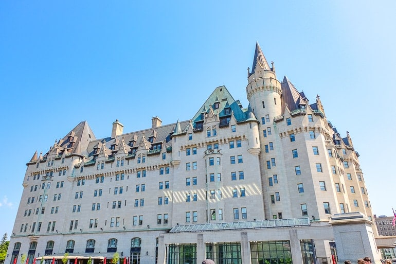large castle looking hotel chateau laurier in ottawa canada