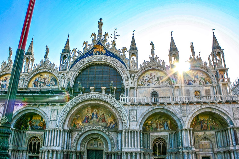decorated basilica with towers and paintings st marks venice italy things to do