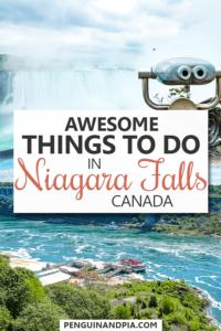 Things to do in Niagara Falls Canada Pin