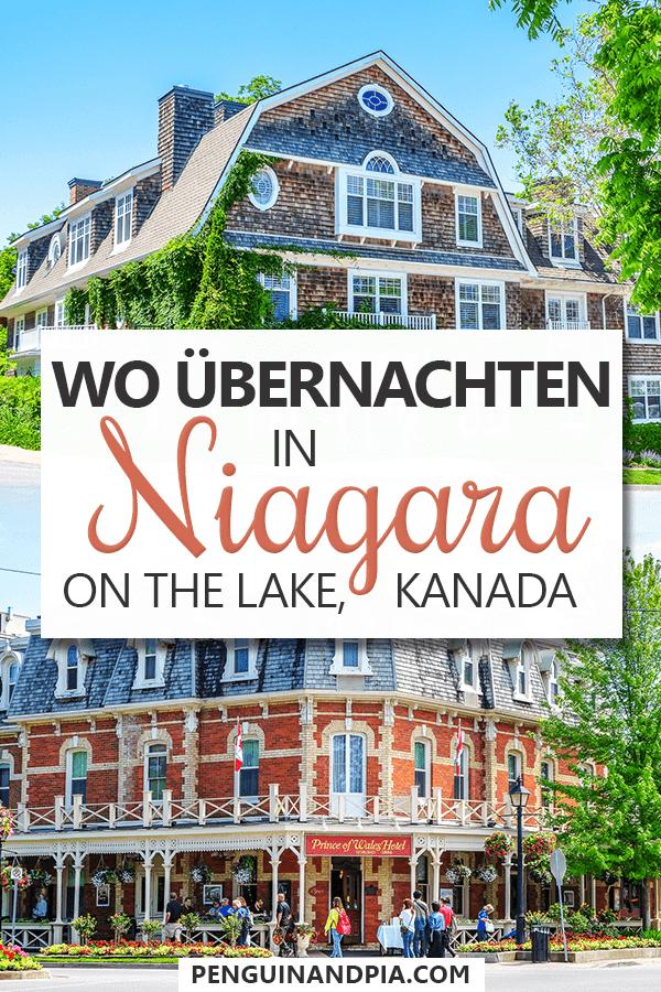 Wo übernachten in Niagara on the Lake Pin