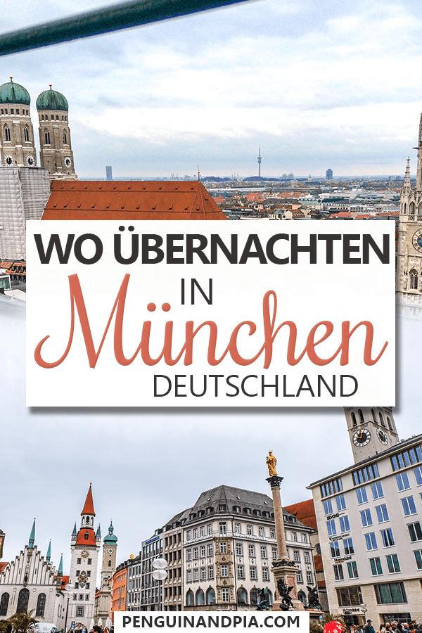 Wo übernachten in München Pin