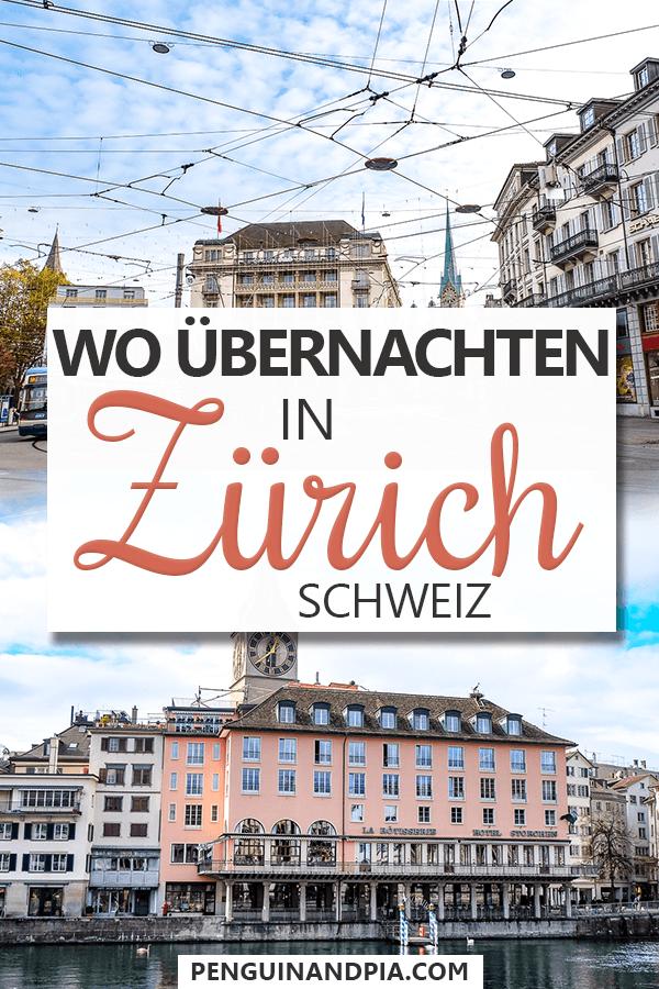 Wo übernachten in Zürich Pin