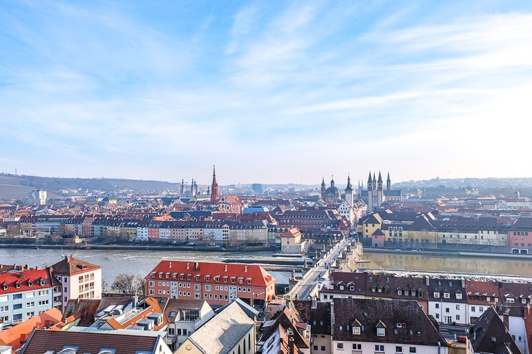 old town buildings with bridge over river in wurzburg germany itinerary