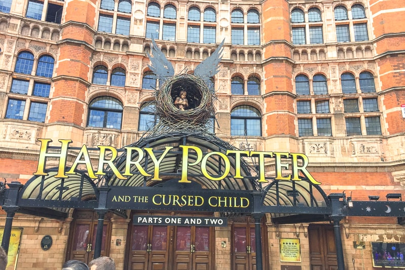 entrance to west end london show harry potter london itinerary